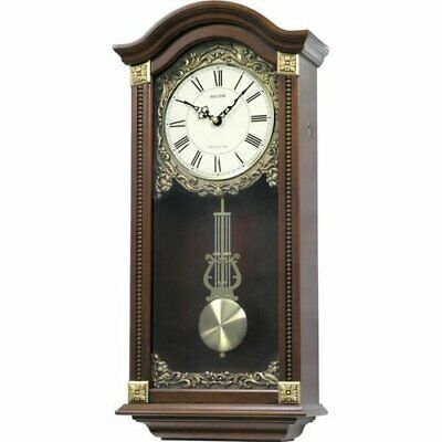 Rhythm Large Deluxe Wooden Pendulum Wall Clock - Westminster Chime