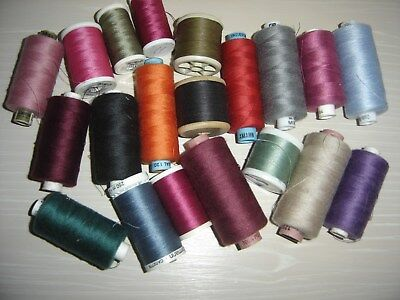 20 Reels Of Threads At A Bargain Price Various Colours