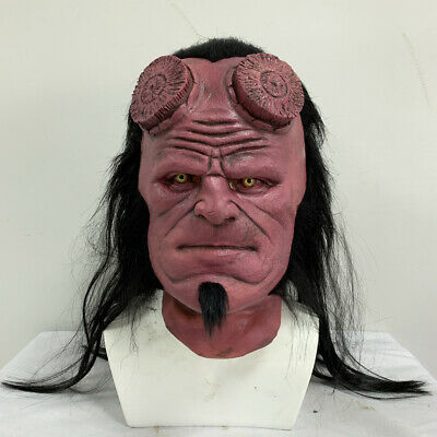 2019 Hellboy 3 Mask Cosplay Wig Right Hand Glove Paw Claw Halloween Costume Prop