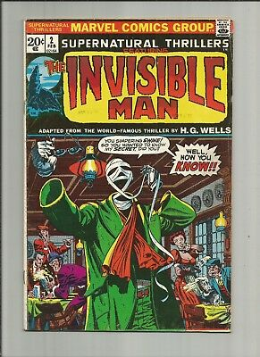 Supernatural Thrillers #2 1973 Invisible Man Steranko rare DOUBLE COVER Marvel