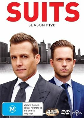 Suits : Season 5 (DVD, 2016, 4-Disc Set) New/Sealed Region 4 t7