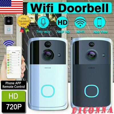 Smart Video Wireless WiFi Door Bell IR Visual Camera Record Security System US