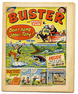 Buster 11 Mar 1978 (very high) Faceache, Clever Dick, Leopard from Lime St, Gums