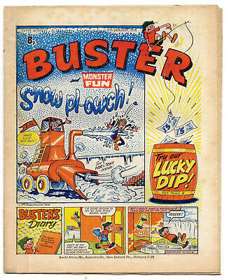 Buster 7 Jan 1978 (very high) Faceache, Clever Dick, Leopard from Lime St, Gums