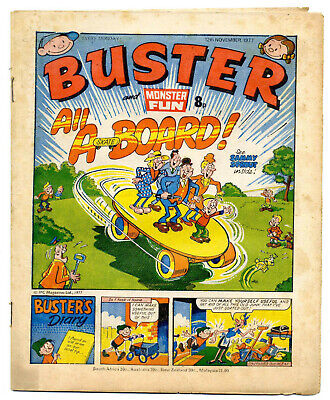 Buster 12 Nov 1977 (high) Faceache, Clever Dick, Leopard from Lime St, Gums