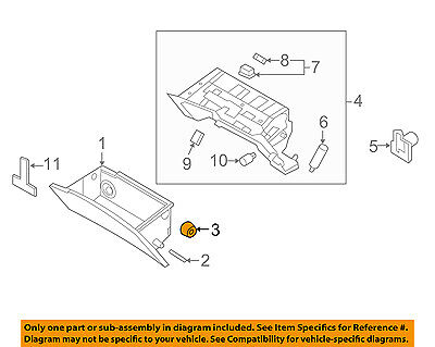 Genuine Hyundai 84540-3N800-RY Glove Box Cover Assembly