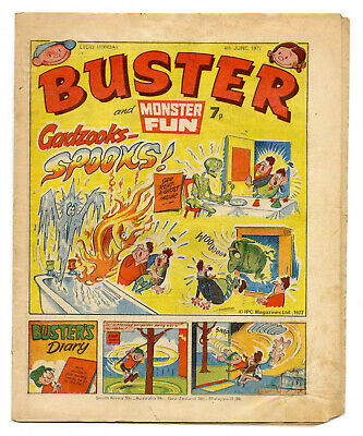 Buster 4th June 1977 (high) Faceache, Clever Dick, Leopard from Lime St, Gums