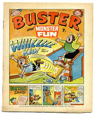 Buster 15th Jan 1977 (high) Faceache, Clever Dick, Leopard from Lime St, Gums
