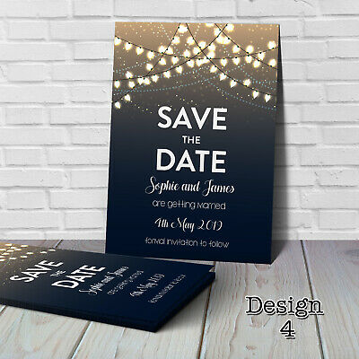Personalised Wedding Save the Date Cards with Envelopes SV4