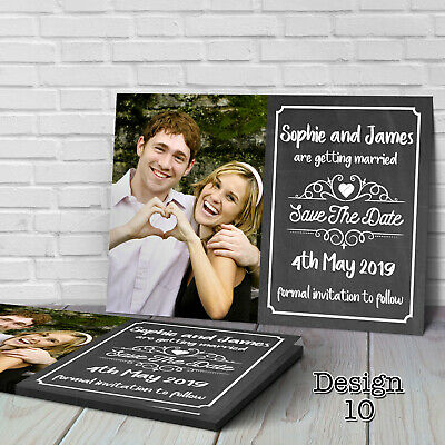 Personalised Wedding Save the Date Cards with Envelopes SV10