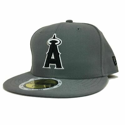 best service 10627 21808 New Era Hat 6 1 2 Los Angeles Angels 59Fifty Fitted Gray Kids