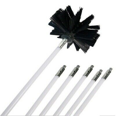 12Ft Chimney Cleaner Cleaning Brush Rotary Sweep System Fireplace Kit Rod AU Hot