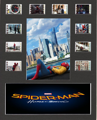 Spiderman Homecoming Replica Film Cell Presentation 10x8 Mounted 10 cells