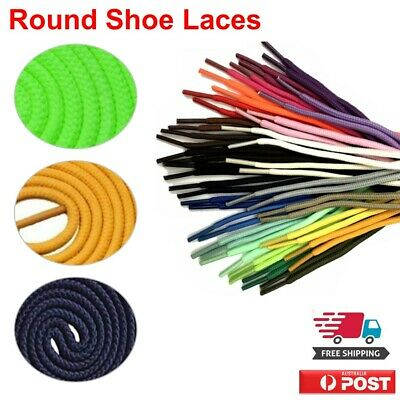 Shoelaces Colorful Coloured Round Bootlace Sneaker shoe laces AU