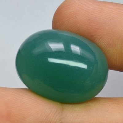 Natural Green Oval Cabochon Chalcedony - 47.57ct - Big !!!