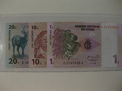 Congo 1 Centime 1997 Pick 80 Unc 654578 ## Provided Congo Coins & Paper Money