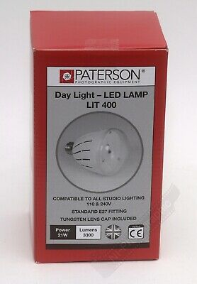 Paterson Photographic Studio LED Lamp Bulb 21w 3300 Lumens Daylight/Tungsten