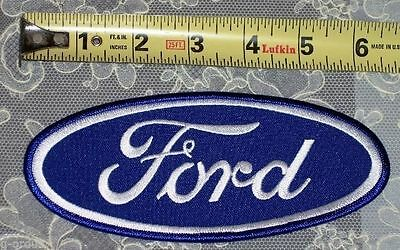 """New Ford Oval Classic Embroidered Uniform Patch 2.75"""" X 6.5"""" Excellent Quality!"""