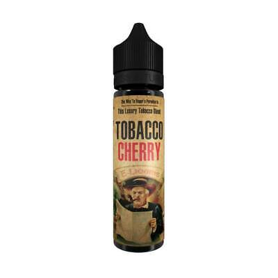E-Liquid Tobacco Cherry VoVan 50ml Shortfill DIY 60ml Shake Liquid Tabak Kirsche