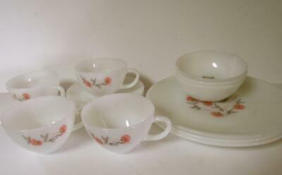 Lot Of 15 Pieces Vintage Fire King Primrose..plates, Bowls, Cups And Saucers