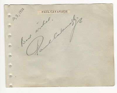 Jack Holt Autographed Album Page Popular Star Of 1940s Westerns D.51 Entertainment Memorabilia