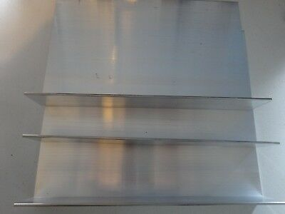 "2"" X 7 1/2"" Aluminum Angle 1/8"" Thick 12"" In Length (3 Pieces)"