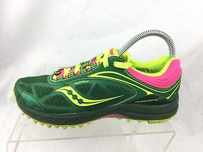 1fe685a6 SAUCONY PEREGRINE 3.0 Trail Running Shoe Womens Size 6.5 M Green Yellow Pink