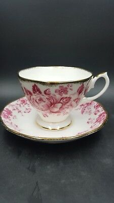 Royal Albert Paradise Red Tea Cup and Saucer Set New Tags