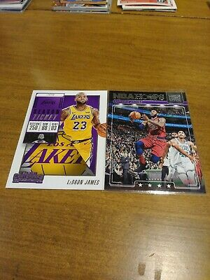 Lebron James Lot of 2. Lights camera action and contenders