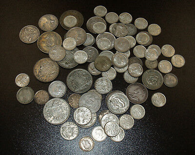 74 Australia Silver Coins - Includes Better Date Shillings - 1915, 1927, 1928