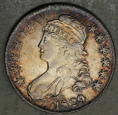 Beautiful 1829 Capped Bust Half Dollar!