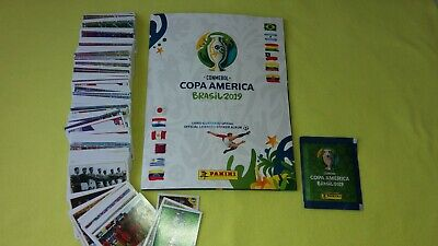 Panini Softcover Copa America 2019 Album + Full Set Of Stickers + 1 Packet