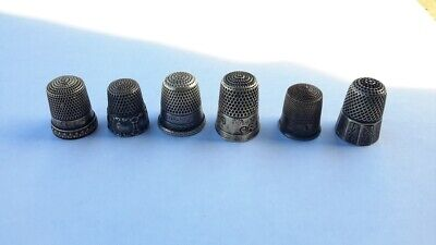 Vtg Sterling Silver Thimble Lot. Simon Brothers. Sizes 8 9 10