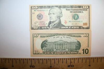 1 Billete  De 10 Dolares Serie 2013, Usa  Hamilton Plancha, Curso Legal
