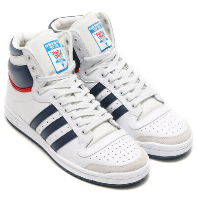 finest selection 5e79a 2d623 ADIDAS TOP TEN HI alte bianche sneakers basket ORIGINALI VERA PELLE