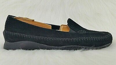 12dfd072301 AEROSOLES Ivory Tree Womens Black Suede Leather Slip On Loafers Shoes Sz  8.5 M