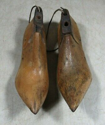 Antique Mid 1800's Victorian Pair Women's Vulcan Wooden Shoe Forms