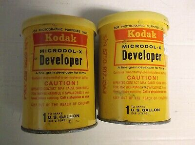 2 Kodak Eastman  Photographic Microdol-X Developer 1 Gallon Unopened