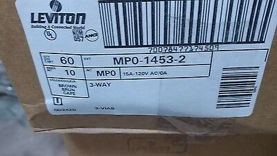 Leviton 1453-2 15 Amp 3-Way Toggle Switch Residential   Box of 60