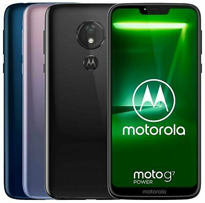"Motorola Moto G7 Power XT1955-4 Dual (FACTORY UNLOCKED) 6.2"" 64GB 4GB RAM Black"