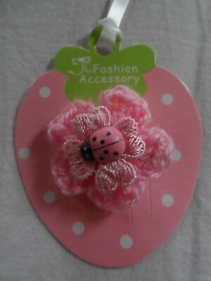 baby/girls hair clip snap clip croc clips,pink ,flowers,ladybird,crochet flowers