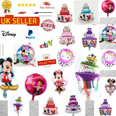 "*UK* Happy Birthday 16"" INCH DISNEY Quality Self Inflating Party Balloons *SALE*"