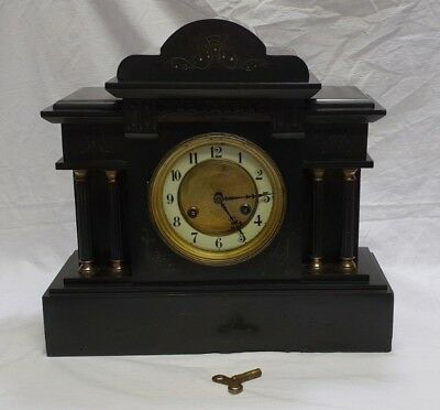 Antique Belgian Junghans Slate 8 day striking Mantle clock