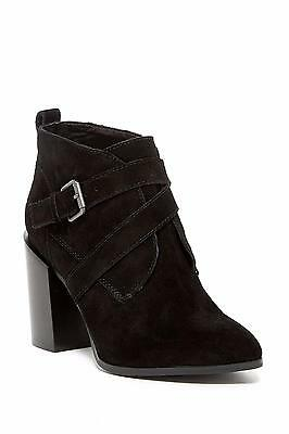 ca7cb6406a NIB Nine West Kelela Booties Sz 9.5 Size New Leather Suede Black Boots Shoes