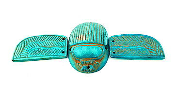 Rare Unique winged scarab Egyptian Ancient Jewelry Collectible Beetle unusual