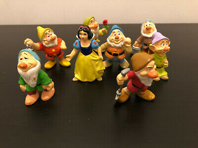 "Disney Snow White and the Seven Dwarfs 2"" inch figurines Portugal complete set"