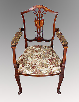A Very Pretty Art Nouveau Arm Chair