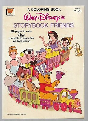 WALT DISNEY'S STORYBOOK FRIENDS A Coloring Book (Clean Pages) from 1981