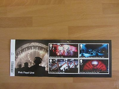 2016 GB PINK FLOYD LIVE STAMP MINIATURE SHEET No.119 With BARCODE