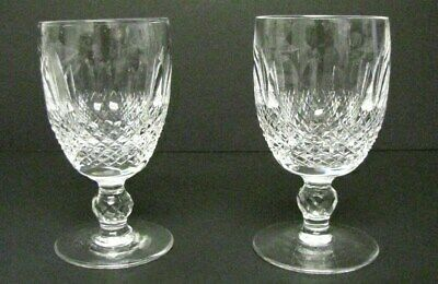 """Set Of 2 Waterford Colleen Short Stem 4 3/4"""" Claret Wine Glasses"""